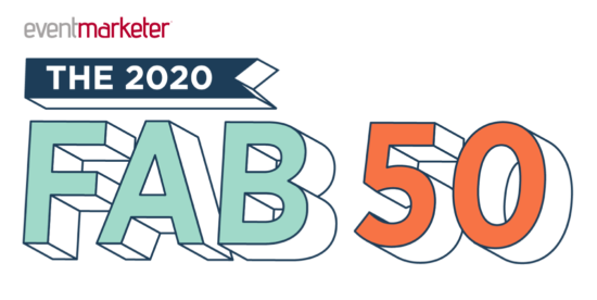eventmarketer 2020 Fab 50 list