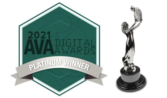 AVA Digital Awards Platinum Winner